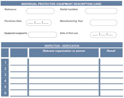 Equipment Inspection Card Liftingsafety