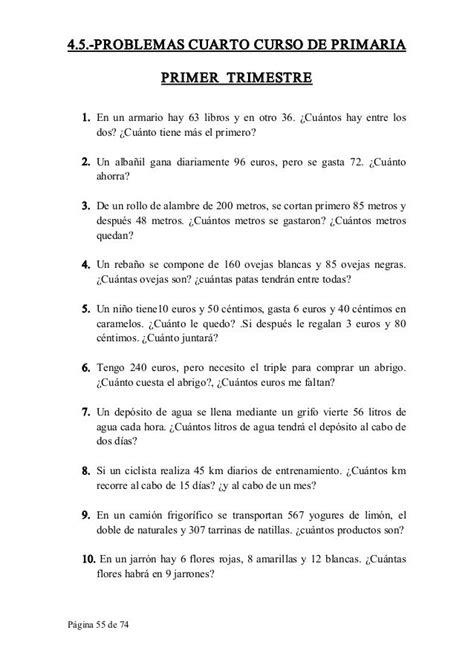 Collection of Bonito Matematicas De Cuarto De Primaria Fotos ...