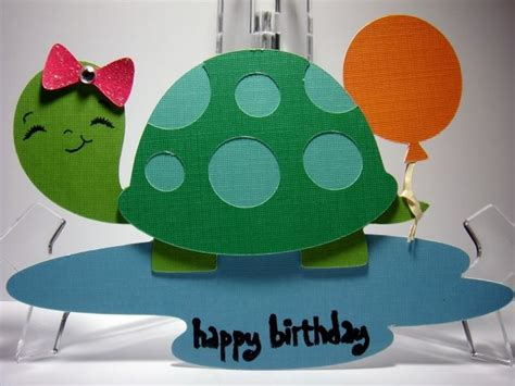 Turtle Birthday Card Pin By Christine Hill On Cards Frogs Turtles Pinterest