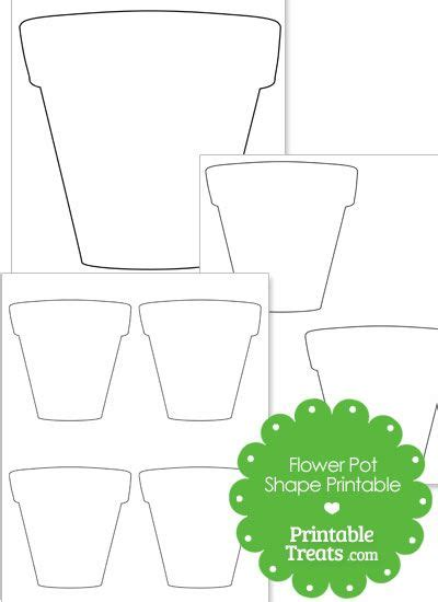 potted flower card templates printable flower pot shape from printabletreats