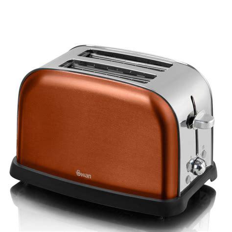 Copper Toaster Swan St16020copn Metallic 2 Slice Toaster Copper