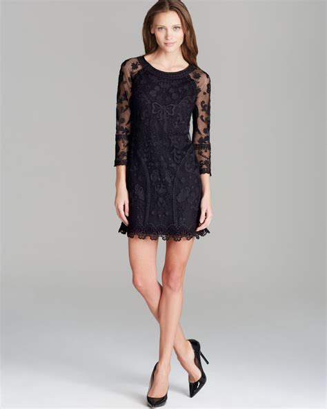 My For The Sweater Dress Couture In The City Fashion couture dress lace in black lyst
