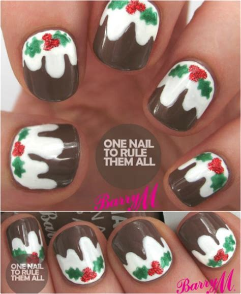 design nail art for christmas 30 christmas nail designs cathy