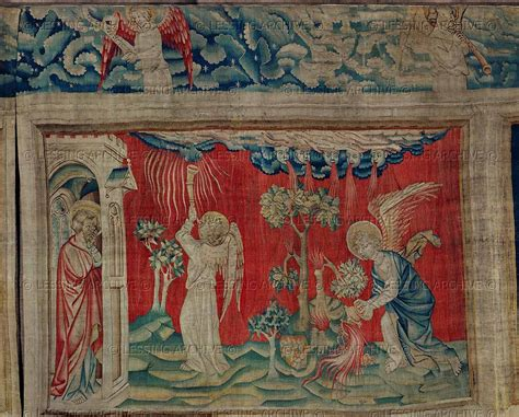 Tapisserie Angers by Tapestry 14th Century Bataille Nicolas Apocalypse D