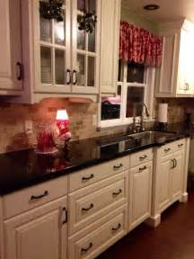 Off White Cabinets With Granite Countertops Off White Kitchen Cabinets With Black Countertops Write