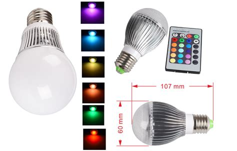 Coloured Led Light Bulbs E27 G60 16 Color Changing Rgb Led Light Bulb Change L 5w 10w Remote Ebay