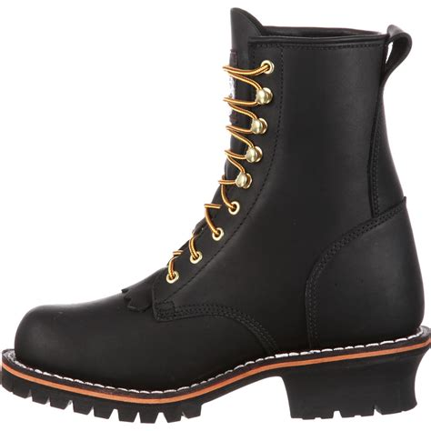 boots on s 8 quot black logger work boots boot style g8100