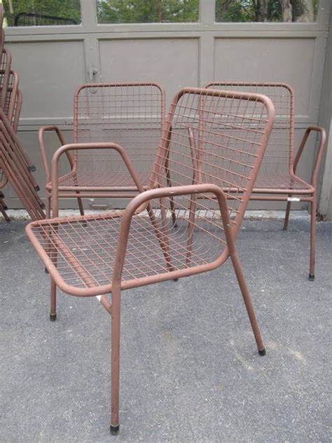 Nine Wire Mesh Outdoor Chairs Made In Denmark At 1stdibs Wire Mesh Patio Furniture