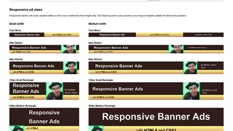responsive layout banner ad tools and plugins to create a responsive website 48 items