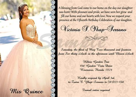 free quinceanera invitations templates quincea 241 era invitation sweet 16 color digital and