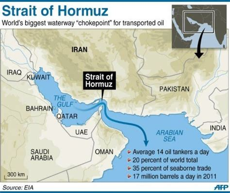 middle east map strait of hormuz strait of hormuz map my