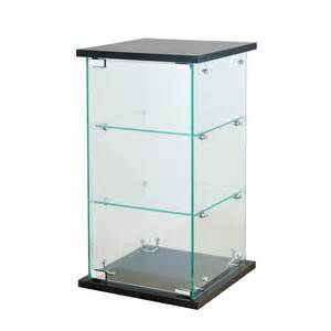 black tower glass display counter top showcase