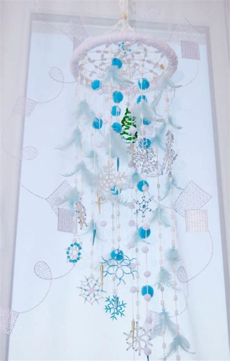 bedroom mobiles fairy christmas mobile nursery bаbу decor beaded snowflake