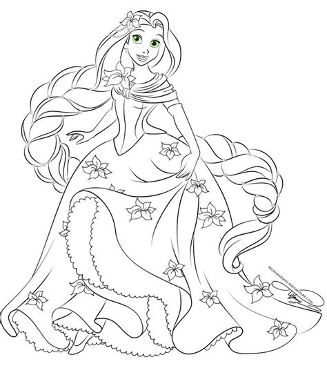 disney princess coloring pages rapunzel and flynn disney princesses lineart favourites by jeanuchiha18 on