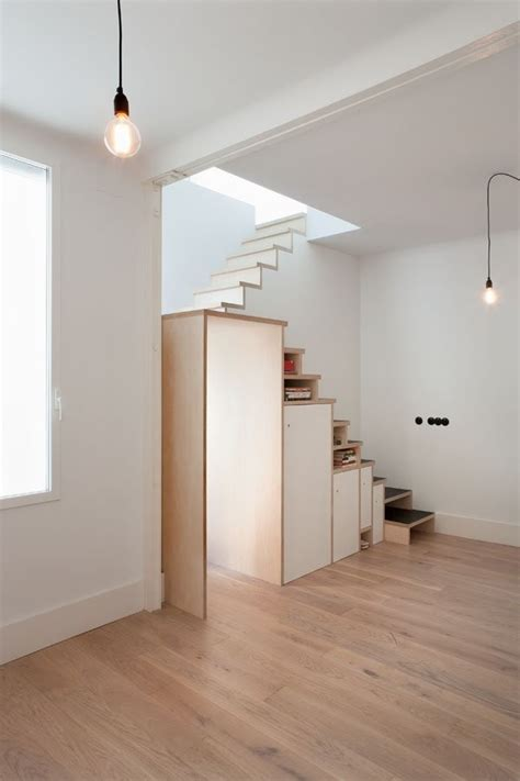 Plywood Stairs Design Plywood Staircase With Lots Of Storage Space By Buj Colon Home Building Furniture And