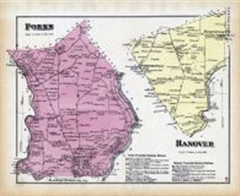 historic map works forks hanover atlas northton county 1874 pennsylvania historical map