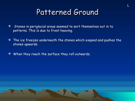 patterned ground formation periglacial processes