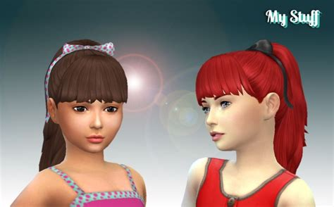 sims 4 ponytails with bangs high ponytail with bangs for girls at my stuff 187 sims 4