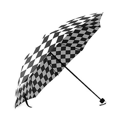 black pattern umbrella popular black white checkered pattern floral automatic