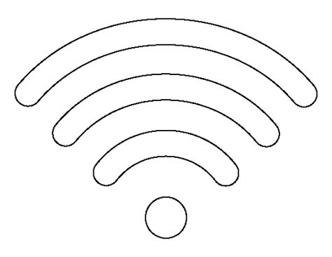 symbol template wifi symbol pattern use the printable outline for crafts