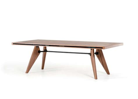walnut veneer dining table vg403 modern dining