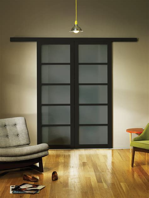 Glass Wall Door Smoked Frosted Glass Wall Slide Doors