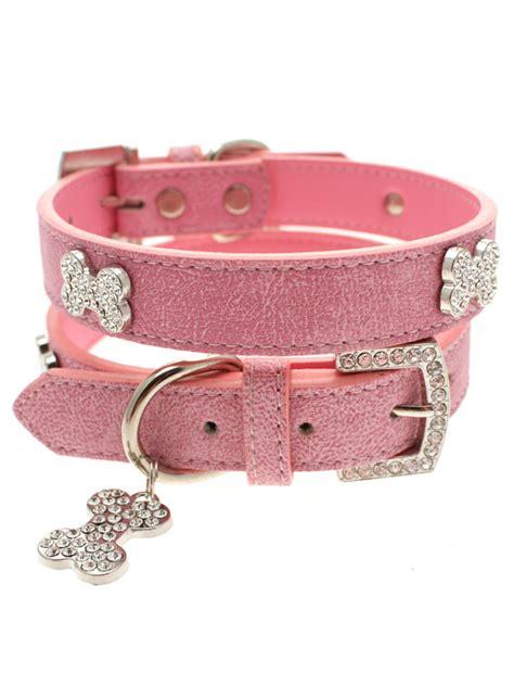 pug collars uk pup pink leather diamante collar i pugs