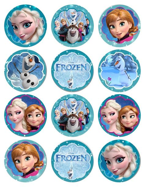 printable frozen toppers best 25 frozen cupcake toppers ideas on pinterest
