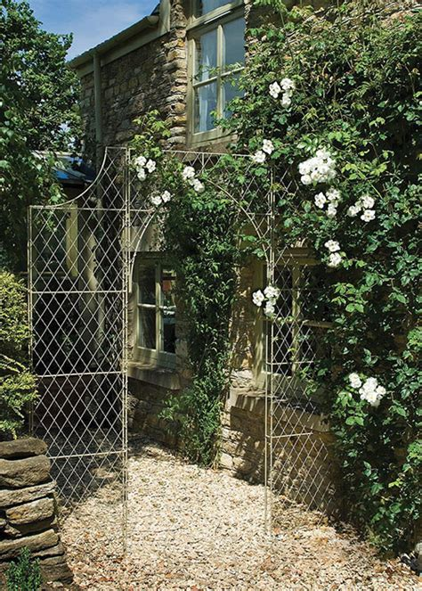 fill bare vertical spaces  metal wall trellis
