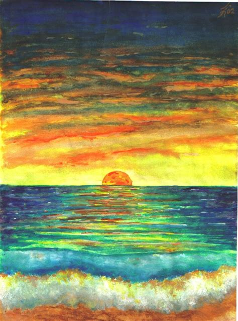 water color sunset sunset watercolor by justin33k on deviantart