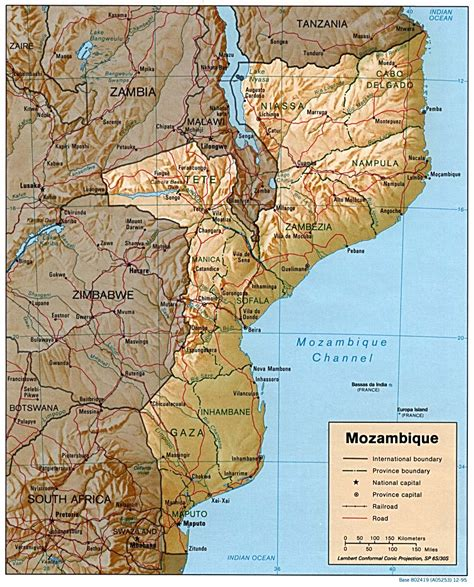 africa map mozambique nationmaster maps of mozambique 10 in total