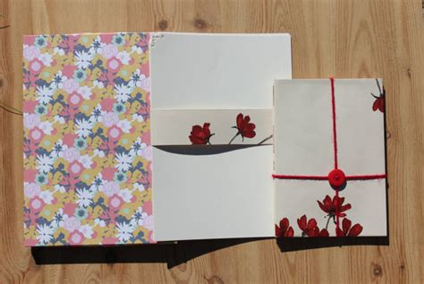 Letter Gift Set Stationery Gift Set With Writing Paper By Thecraftyredbutton
