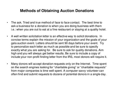 Donation Request Letter To Vendors obtaining quality auction items