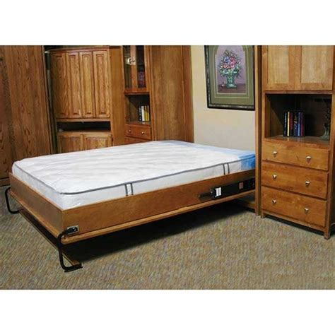 full size wall bed cabinet wall bed mechanism for use with full size mattress inside mount