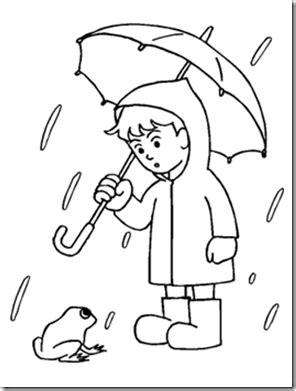 preschool coloring pages rain rain colouring kindergarten pinterest rain