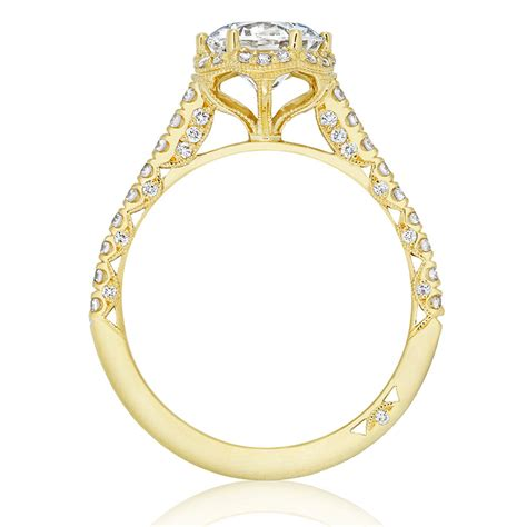 Tacori Engagement Rings Gold Floral Halo Setting by Tacori Engagement Rings Gold Floral Halo Setting