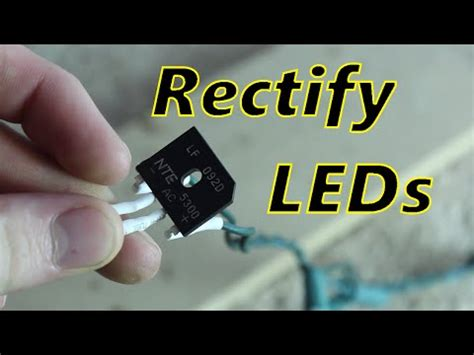 fix flickering led christmas lights rectifying led