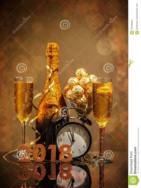 2018 new year concept stock image image of chocolate