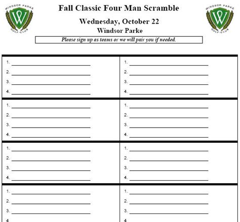 golf tournament registration template best photos of outing sign up sheet exle golf