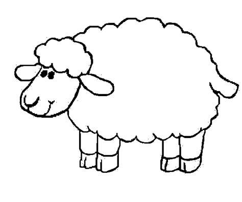 sheep template for preschool imagenes para colorear de animales