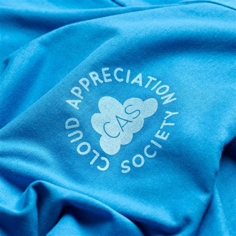 Clouds Tees cloud appreciation society cas t shirt bright blue
