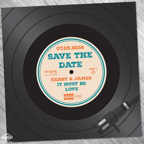 Date Of Records Vinyl Record Wedding Invites Save The Dates Wedfest