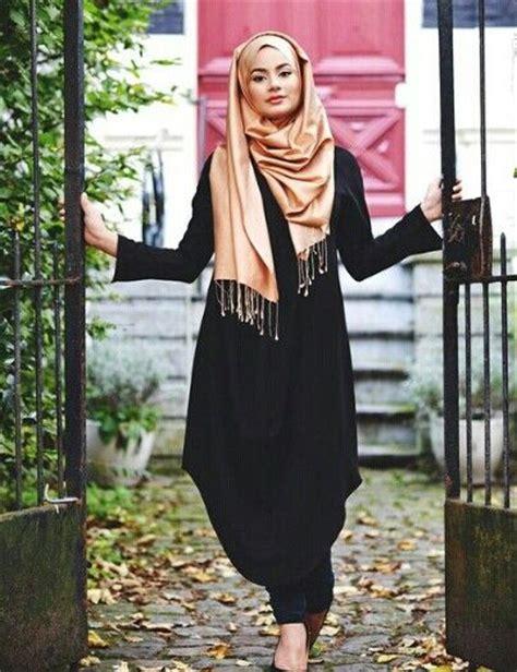 Baju Abaya Hitam Modern trend model baju remaja terbaru