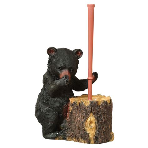 black bear toilet brush