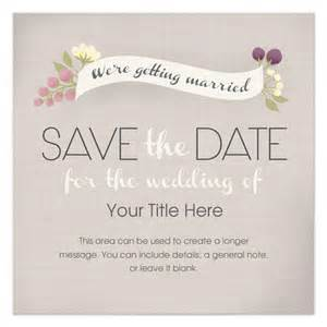 save the date banner template textured save the date floral banner invitations cards