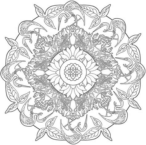 nature mandala coloring books nature mandalas coloring pages printable for