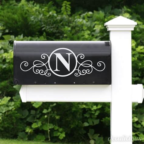 Mailbox Stickers custom mailbox monogram decal monogrammed gifts monogram