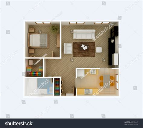 plan my room 3d floor plan top view apartment interior aerial kitchen