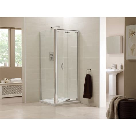 700 Bi Fold Shower Door Identiti2 700 760 Bi Fold 6mm Clear Glass Only 163 356 99