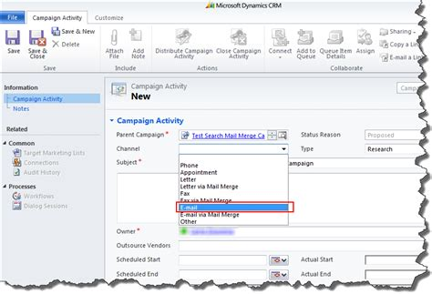 office 2013 mail merge crm 2011 campaign activities how to distribute emails